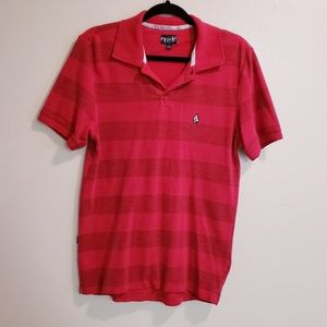 Volcom red Short Sleeve Striped Polo
